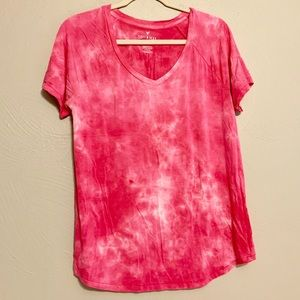 American Eagle Soft&Sexy Pink Tie Dye Tee